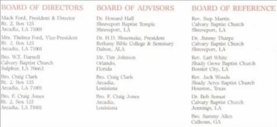 Board of Advisors NBHG