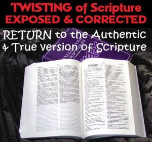 twisting of scripture