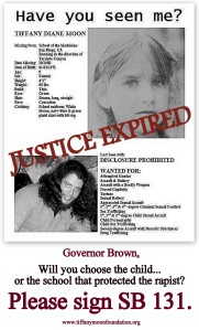 ABDUCTION SB 131 Poster Governor Choose Sign 2